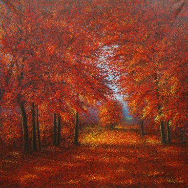 The-Season-of-Love—PEAK-AUTUMN,-Narate-Kathong,-150-x-150-cm,-oil-_-acrylic-on-canvas,-2012-[8379]