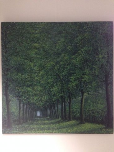 The-Season-of-Love—ROMANCE-PARK-IN-SUMMER-MORNING-II,-Narate-Kathong,-120-x-120-cm,-oil-_-acrylic-on-canvas,-2011
