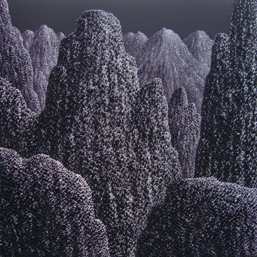 GRAND-MOUNTAIN—NIGHT-FALL-I,-Saenkom-Chansrinual,-150-x-150-cm,-solid-acrylic-on-canvas,-2012-[8371]