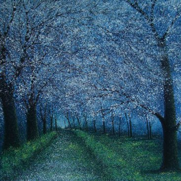 The-Season-of-Love—APPLE-BLOSSOM—Narate-Kathong—150-x-150-cm,-oil-_-acrylic-on-canvas,-2010-[8279]