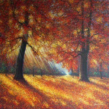The-Season-of-Love—AUTUMN-TRAIL,-Narate-Kathong,-150-x-150-cm,-oil-_-acrylic-on-canvas,-2010-[8319]